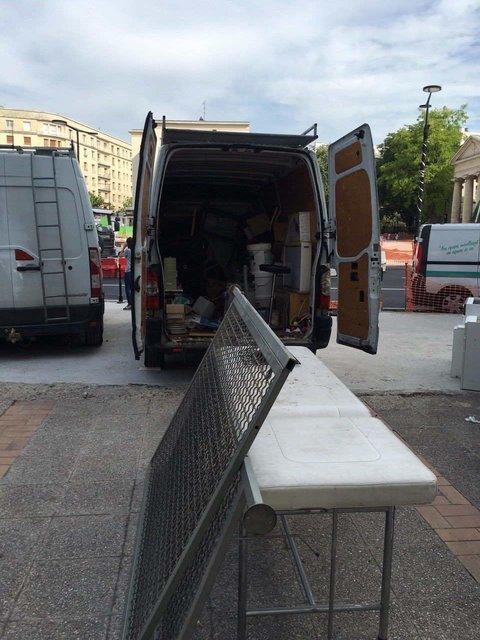 camion de remplir les déchets