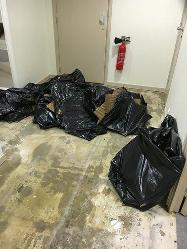 sacs poubelles à jeter