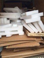 cartons, bois, objets