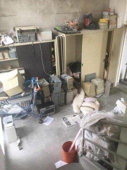 débarras d'ordinateurs fixes, armoires et archives